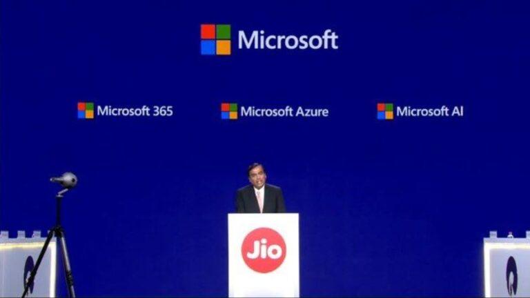 گزارش: مایکروسافت در Reliance Jio هند سرمایهگذاری میکند