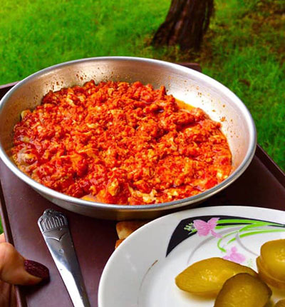 طرز تهیه انواع املت گوجه