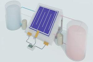 ذخیره انرژی به شکل مایع توسط یک باتری خورشیدی!